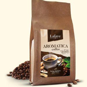 AROMATICA COFFEE 500G 24,99 ZŁ Dzięki zawartości odpowiedniej dawki Robusty Cherry odpowiednio nas pobudzi i doda pozytywnej energii. Specjalny proces palenia zapewnia delikatny smak oraz odpowiedni poziom kwaskowości, wydobywa też przyjemne aromaty z nutami orzechowymi.