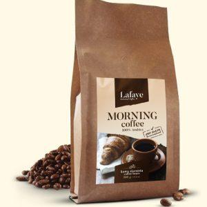 MORNING COFFEE 500G 24,99 ZŁ Mieszanka 3 wyrazistych odmian ziaren Arabiki, przeznaczona dla osób traktujących kawę jako niezbędny element podtrzymania aktywności umysłu.