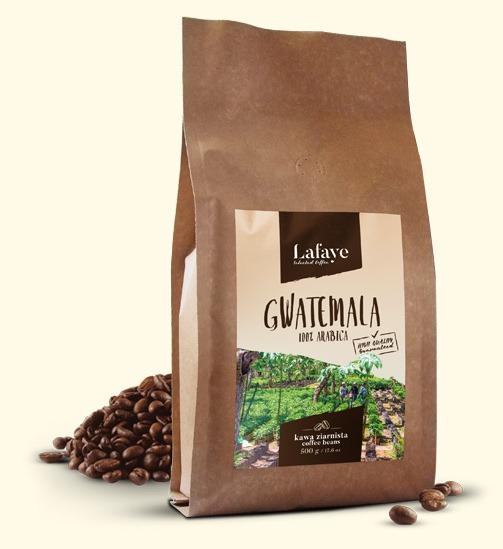 GWATEMALA 500G 24,99 ZŁ Gwatemala jest niezwykłym miejscem na świecie, gwarantującym uprawę wyjątkowych odmian kawy. Ów wulkaniczny teren bardzo mocno wpływa na smak kawy stamtąd pochodzącej. Jeśli więc jesteście fanami korzennego aromatu, z nutą karmelu, ale o nieco pikantnym posmaku, to idealna dla Was kawa będzie pochodziła z Gwatemali.