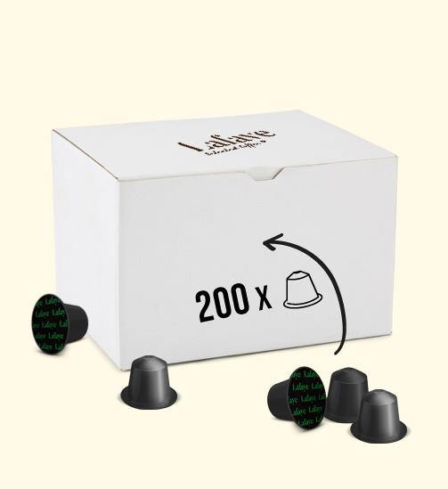 KAPSUŁKI LAFAYE TYPU NESPRESSO 200 SZTUK 200 dowolnych kapsułek za 99 PLN brutto. Oferta obowiązuje do wyczerpania zapasów. Promocja nie obejmuje kapsułek aromatyzowanych. Przy zakupię prosimy o wiadomość z wybranymi kawami.