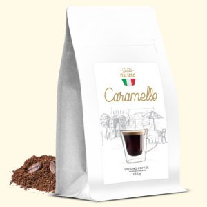 CARAMELLO AROMATYZOWANA KAWA MIELONA 250G Gusto italiano Caramello